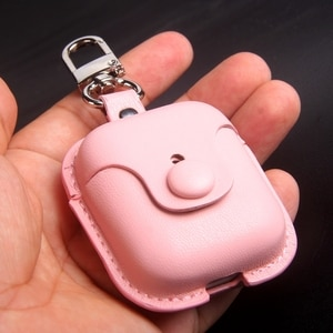 For realme buds air case lamb PU leather cover TWS earphone case luxury soft comfortable with keychain cute pink girl buds air