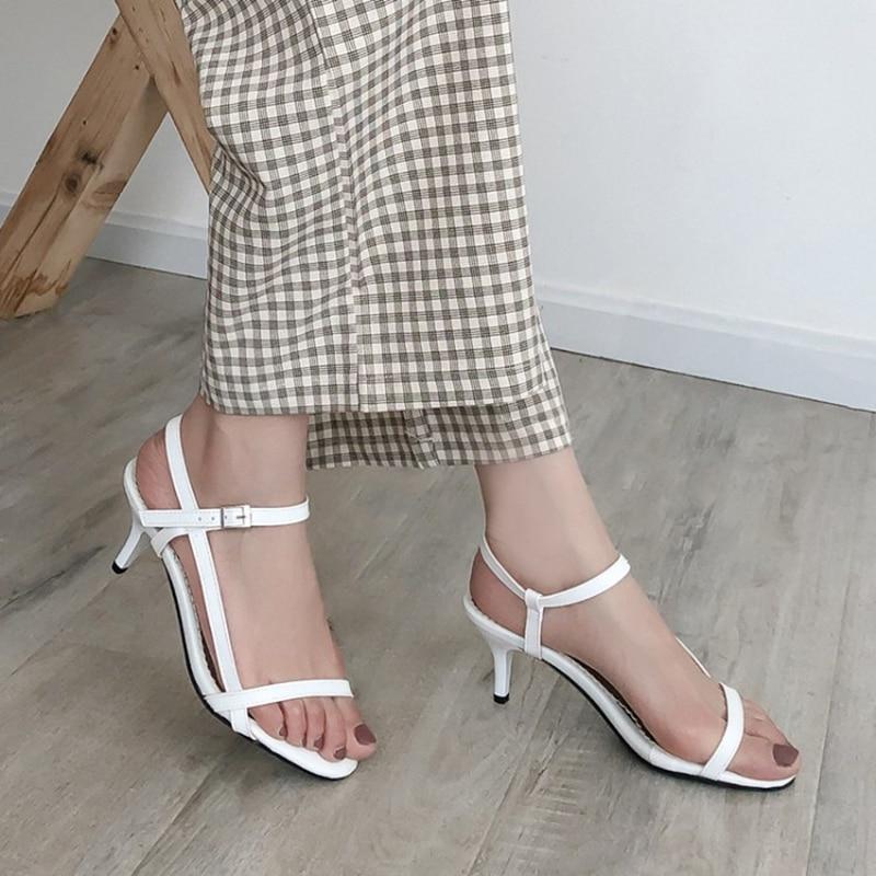Woman sandalias mujer 2020 pumps Summer simple Dress Weddging High Heels Ladies Shoes zapatos mujer