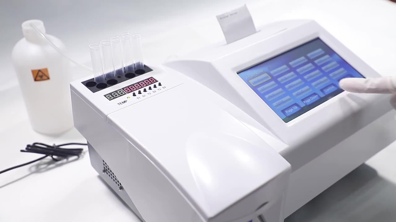 Портативный автоматический химический анализатор ПЭТ/портативный анализатор химии крови/полуавтоматический биохимический анализатор, хи...