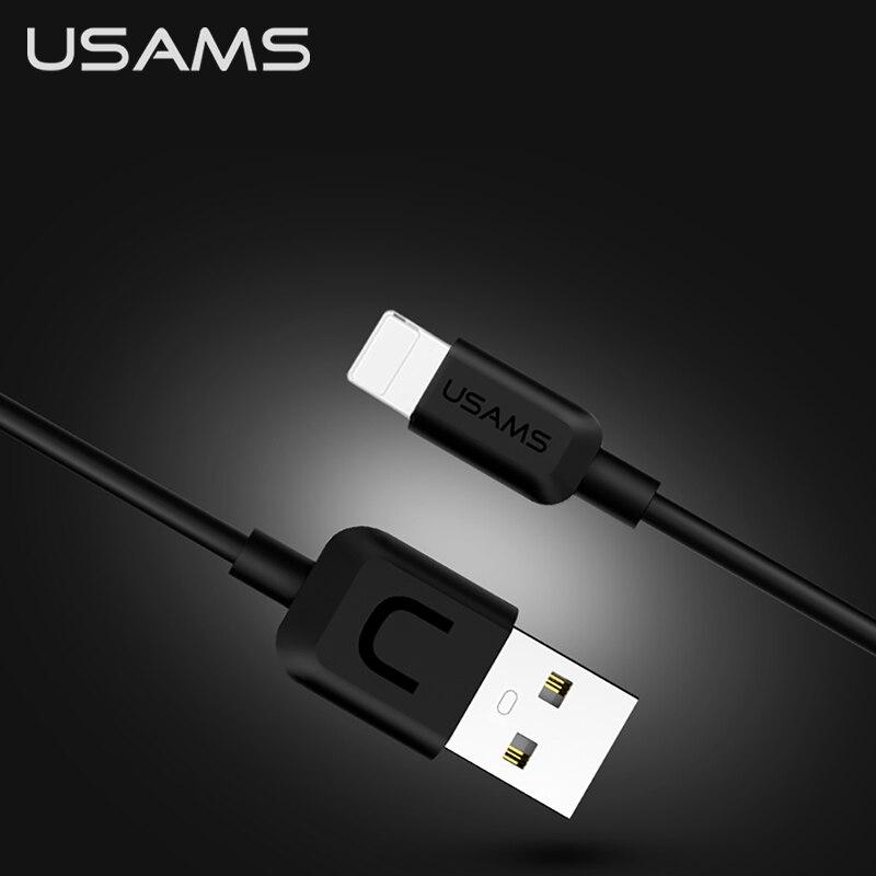 USAMS 10 قطعة USB نوع C كابل 2A ل فون البرق شحن كابل ل فون 7 8 زائد X XS ماكس XR 5 5S SE 6 6S زائد البيانات سلك