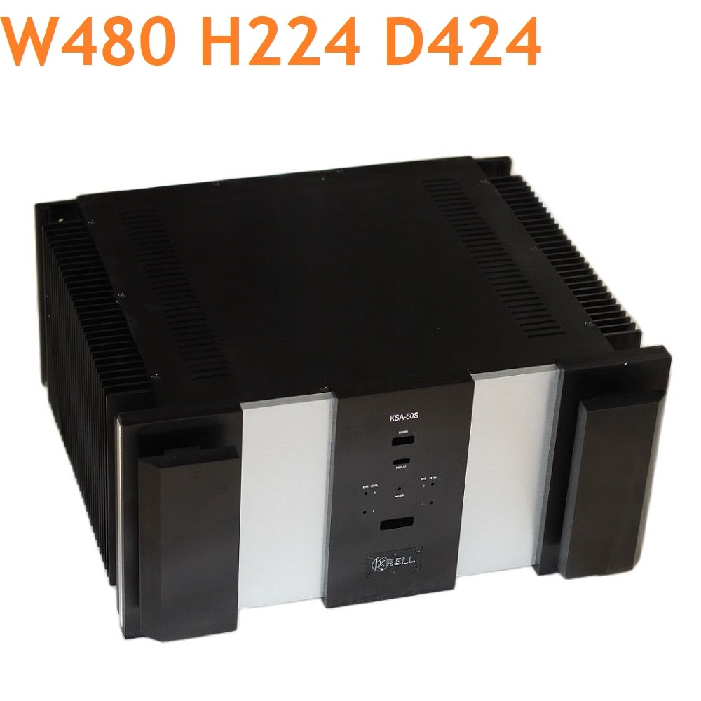 W480 H224 D424 DAC تضخيم هيكل من الألومنيوم مكبر كهربائي العرض لتقوم بها بنفسك فئة كبيرة الحجم مرحبا نهاية صندوق الصوت أنبوب أمبير الإسكان