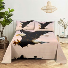 Eagle 0.9/1.2/1.5/1.8/2.0m Digital Printing Polyester Bed Flat Sheet With Pillowcase Print Bedding S
