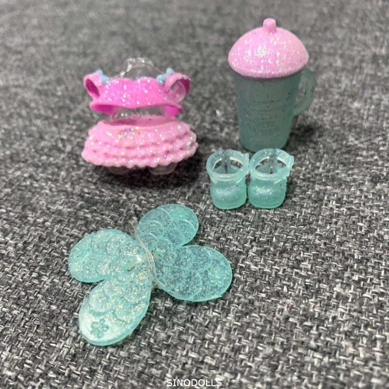 Оригинальный lol наряд Одежда и бутылка обувь для LOL большая сестра на Pointe Witer диско кукла игрушки аксессуары для детей Рождественский подарок