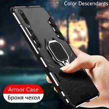 Étui armure antichoc pour Huawei Honor 9X Honor9X 9 X HLK-AL00 HLK AL00 support magnétique de luxe anneau support de voiture couverture de protection arrière