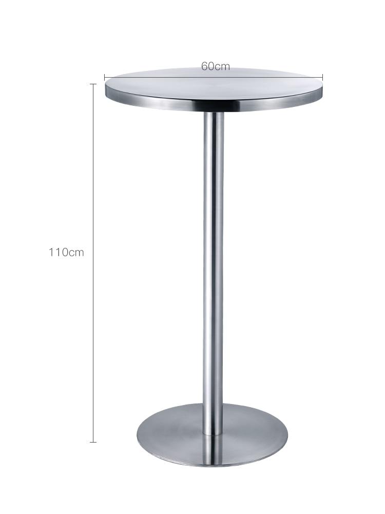 طاولة بار معدنية مستديرة من الفولاذ المقاوم للصدأ ، Ktv خارجي ، طاولة بار منزلية ، طاولة شاي حليب ، طاولة عالية بسيطة