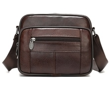 AUAU-Men's Bags Leather Casual Men's Shoulder Bag for Men Flap Zipper Men'S Crossbody Bag Leather Messenger Handbags