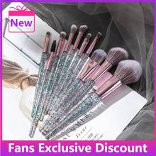 2021 New Glitter Shinny Crystal Foundation Blending Power Contour Face Cosmetic Beauty Make Up Tool
