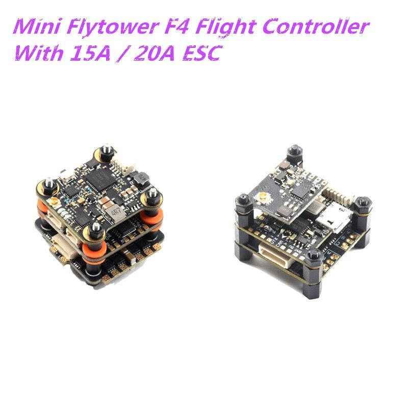20x20mm Skystars Mini Flytower F4 OSD controlador de vuelo y 15A 20A BL_S 4in1 CES y 40CH 48CH 25/100/200mW VTX para RC FPV Drone