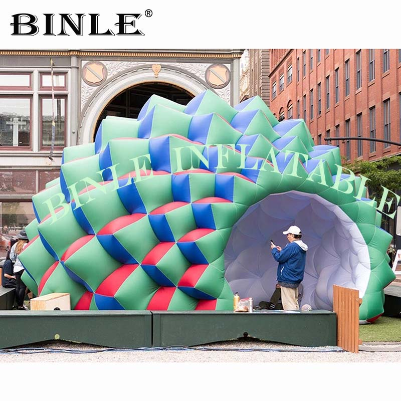Personalizado incrível inflável cúpula tenda com flor em forma, igreja barraca inflável, letreiro cúpula do ar, duran iglu para eventos