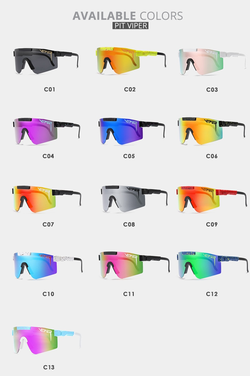 Pit Viper Big Frame Sports Windproof Cycling Glasses Fashionable and Colorful Personalized Polarized Sunglasses NEW BOX UV400 enlarge