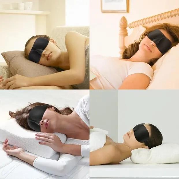 3D Natural Sleeping Eye Mask Eyeshade Lunch Break Cover Shade Eye Patch Women Men Soft Portable Blindfold Travel Eyepatch 1Pcs