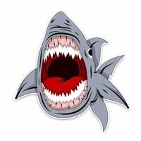 creative animal funny shark cartoon graffiti car sticker accessories waterproof sunscreen scratch proof sticker kk1413cm