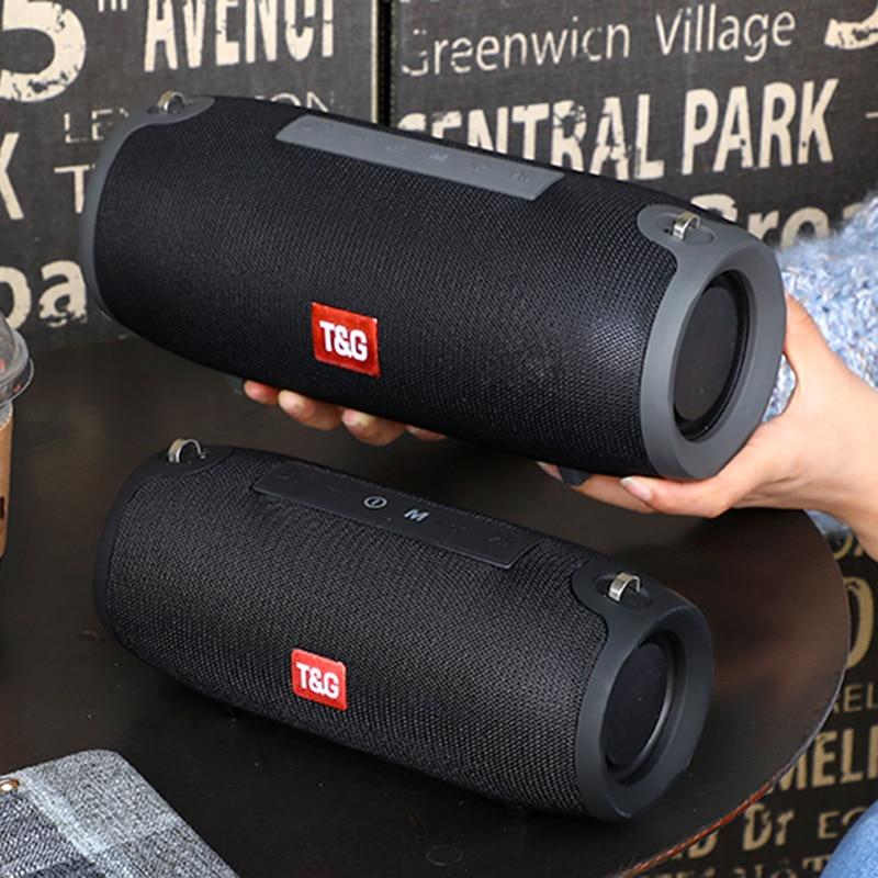 Caja de sonido portátil inalámbrica de 20W para columna de altavoz Bluetooth al aire libre, bajo estéreo, subwoofer, caixa de som, radio fm, boombox aux usb