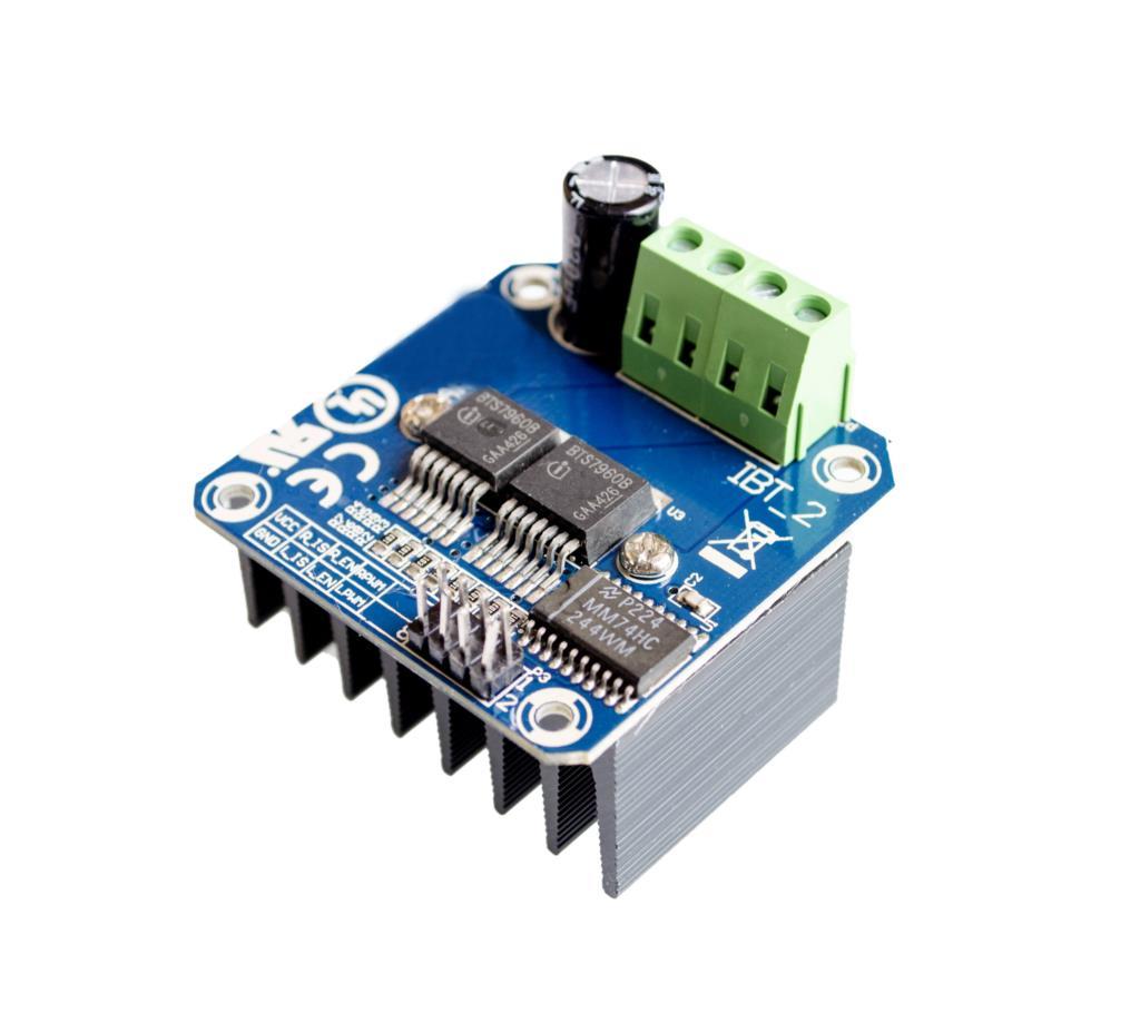 Módulo controlador de Motor de alta potencia BTS7960 43A, coche Robot inteligente, 10 unidades por lote