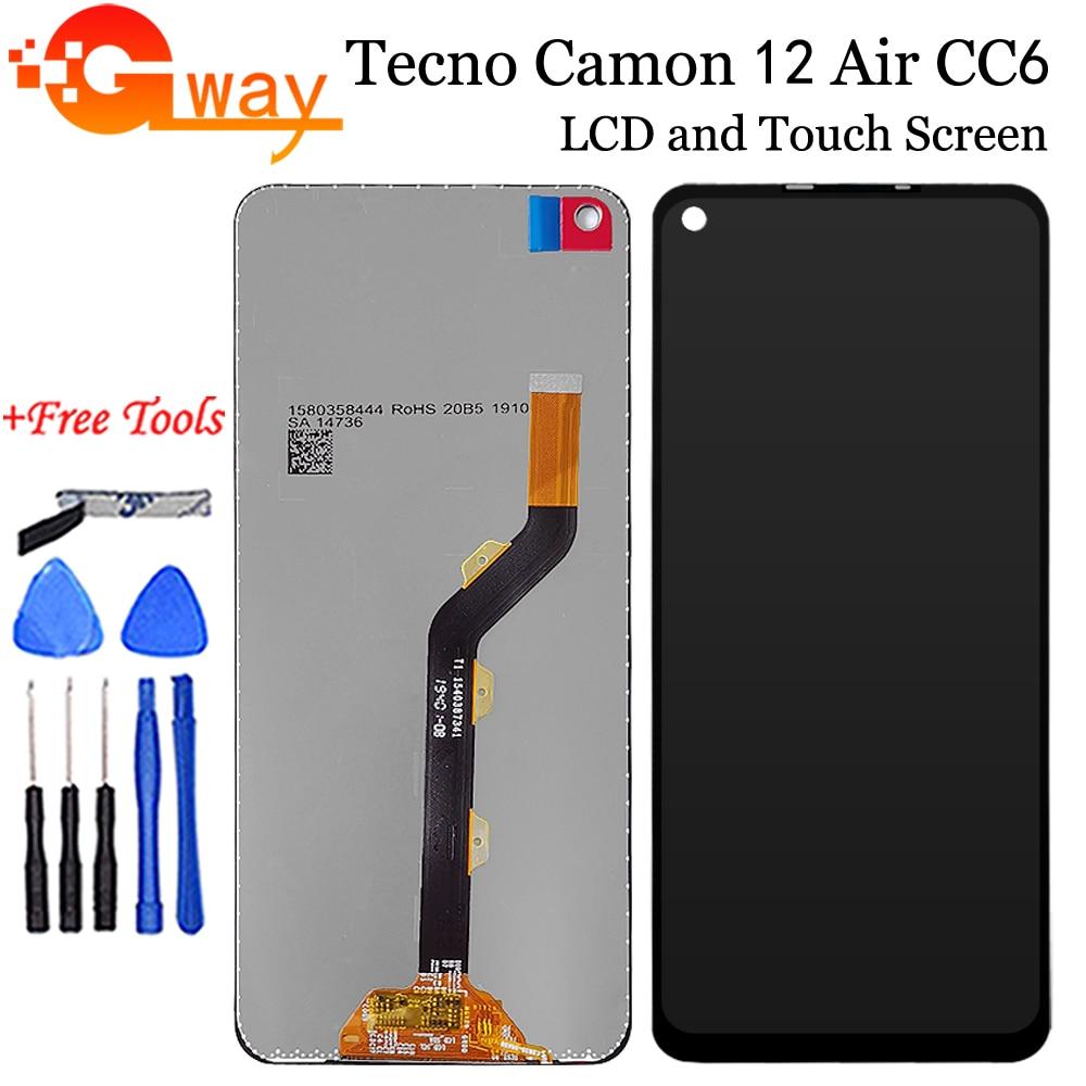 شاشة LCD تعمل باللمس مقاس 6.55 بوصة لـ Tecno Camon 12 Air CC6 ، قطع غيار مع أدوات