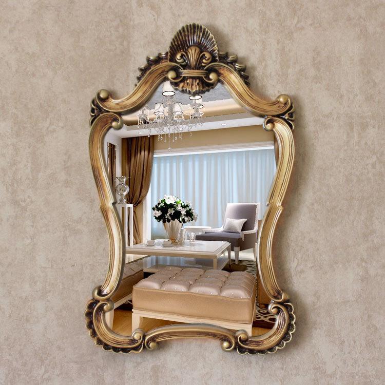 Envío Gratis espejo creativo fabricantes espejo para maquillaje plegable escritorio coreano estilo europeo espejo de doble cara