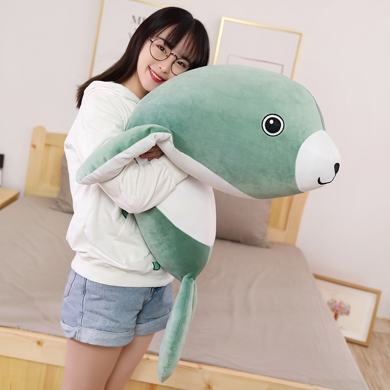 Hot Nice Plush Big Seals Toy Doll Comforting Sleep Cute Seals Pillow Ocean Stuffed Animals Soft Toys Children's Birthday Present  - buy with discount