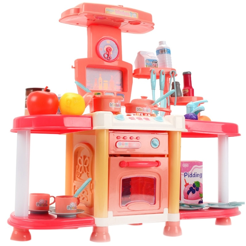 Toys with Cooking Food Sets Vegetables Fruits Pretend Play Kitchen Kids Toy for Children