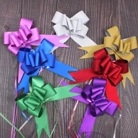 50100pcs pull bow ribbons gift flower wrappers for wedding decor happy birthday party decoration gifts box hand pull bowknot