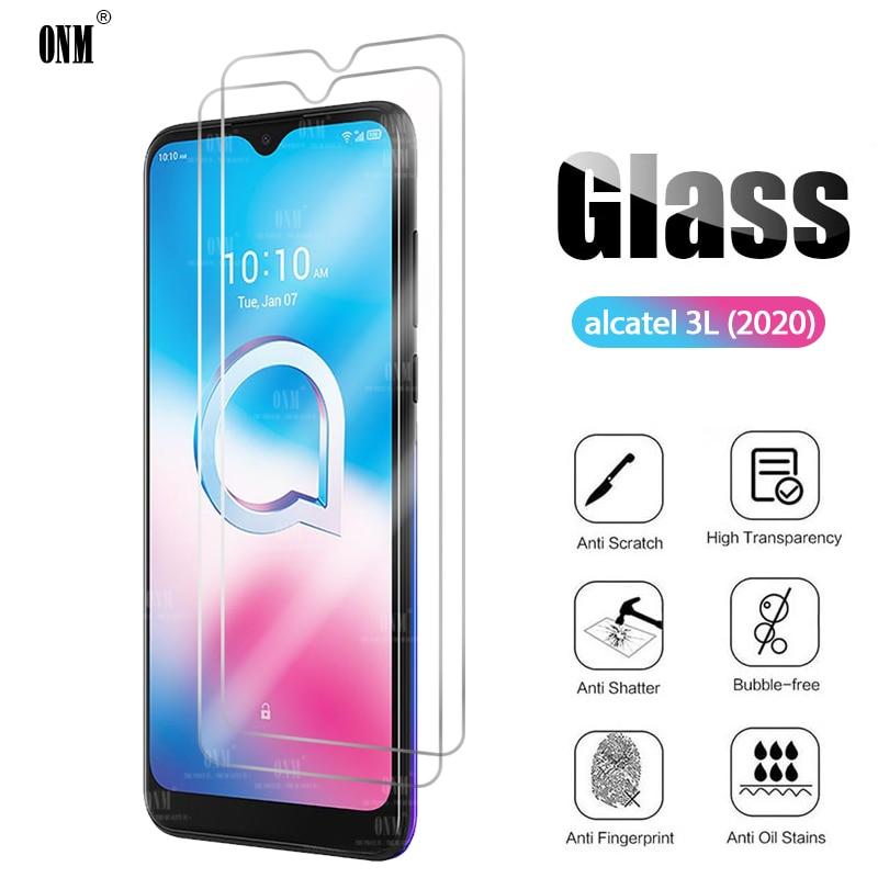 2Pcs Alcatel 3L 2020 Tempered Glass For Alcatel 3L 2020 Screen Protector For Alcatel 3L 2020 Protective Glass Film недорого