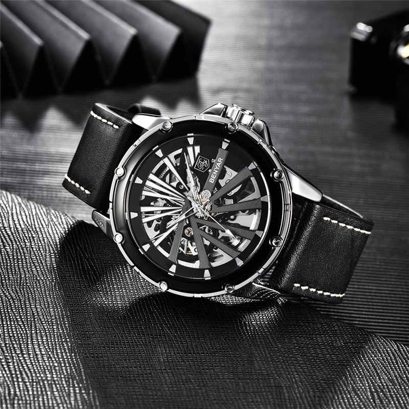 2021 New BENYAR Men Watch Top Brand Luxury Tourbillon Automatic Mechanical Watches Men Waterproof Sport montre homme automatiqu enlarge