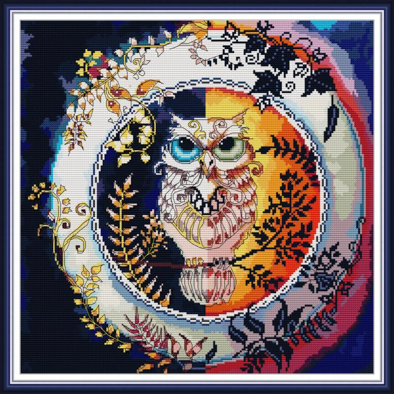 Owl cross stitch kit DIY animal pattern embroidery kit DMC 14CT 11CT needlework sewing set christmas Home decoration painting