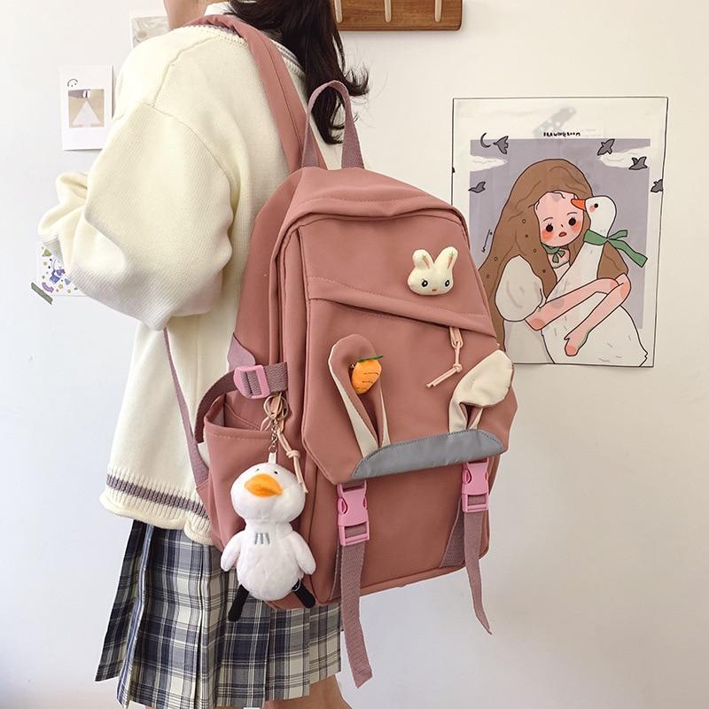 Travel Women Book Backpack Waterproof Nylon Cute School Bag Girl Kawaii Student Laptop Female Fashion Ladies Trendy