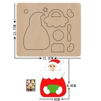 new santa claus wooden mold christmas wood dies for diy leather cloth paper craft fit common die cutting machines on the market