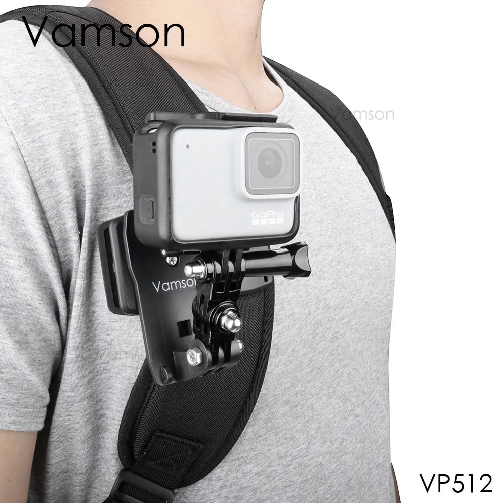 Аксессуары Vamson для Go Pro 9 8, вращающийся на 360 градусов зажим для GoPro Hero 9 8 7 6 5 4 3 + для yi 4K для SJCAM для SJ4000 VP512