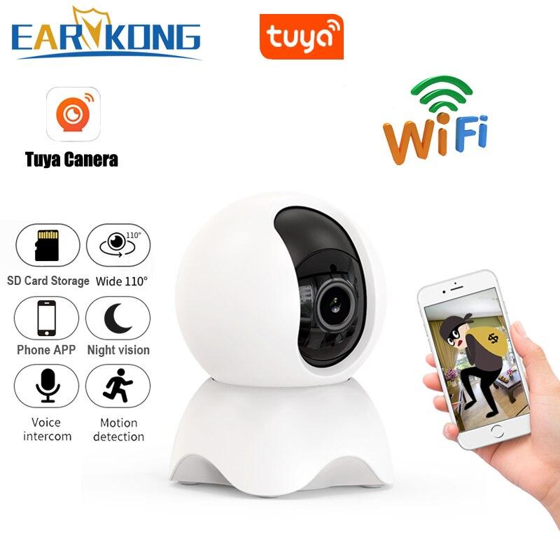 1080P واي فاي كاميرا تويا PTZ كاميرا شبكية عالية الوضوح واي فاي مراقب إنترفون AI السيارات تتبع دوران وظيفة الرؤية الليلية تطبيق لنظام أندرويد وIOS