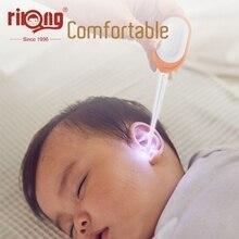 Rikangالطفل الأذن نظافة LED الطفل سماعة الأذن العناية الطفل آذان تنظيف مع ضوء شمع الأذن ملعقة حفر الأذن الرعاية أداة الأذن حقنة