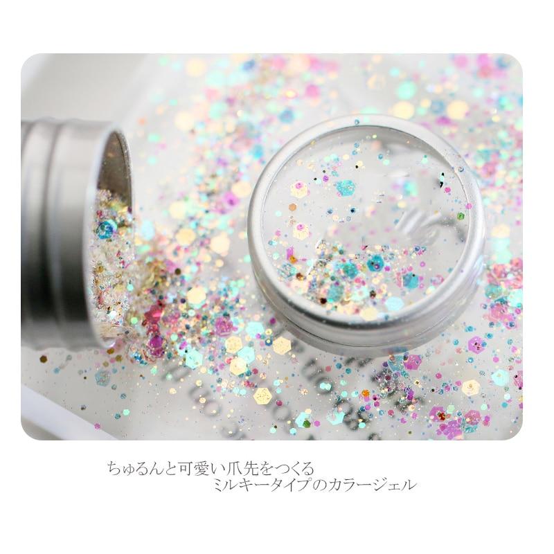 1 Pots 3color Unicorn Dandruff (iridescent color shift) Glitter mix For acrylic & gel nail art Loose