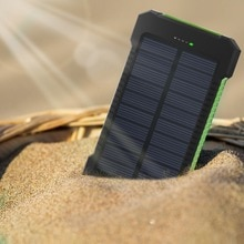 2021  20000mah Solar Power Bank For   11 pro External Battery Waterproof Dual USB Charge Mobile  Acc