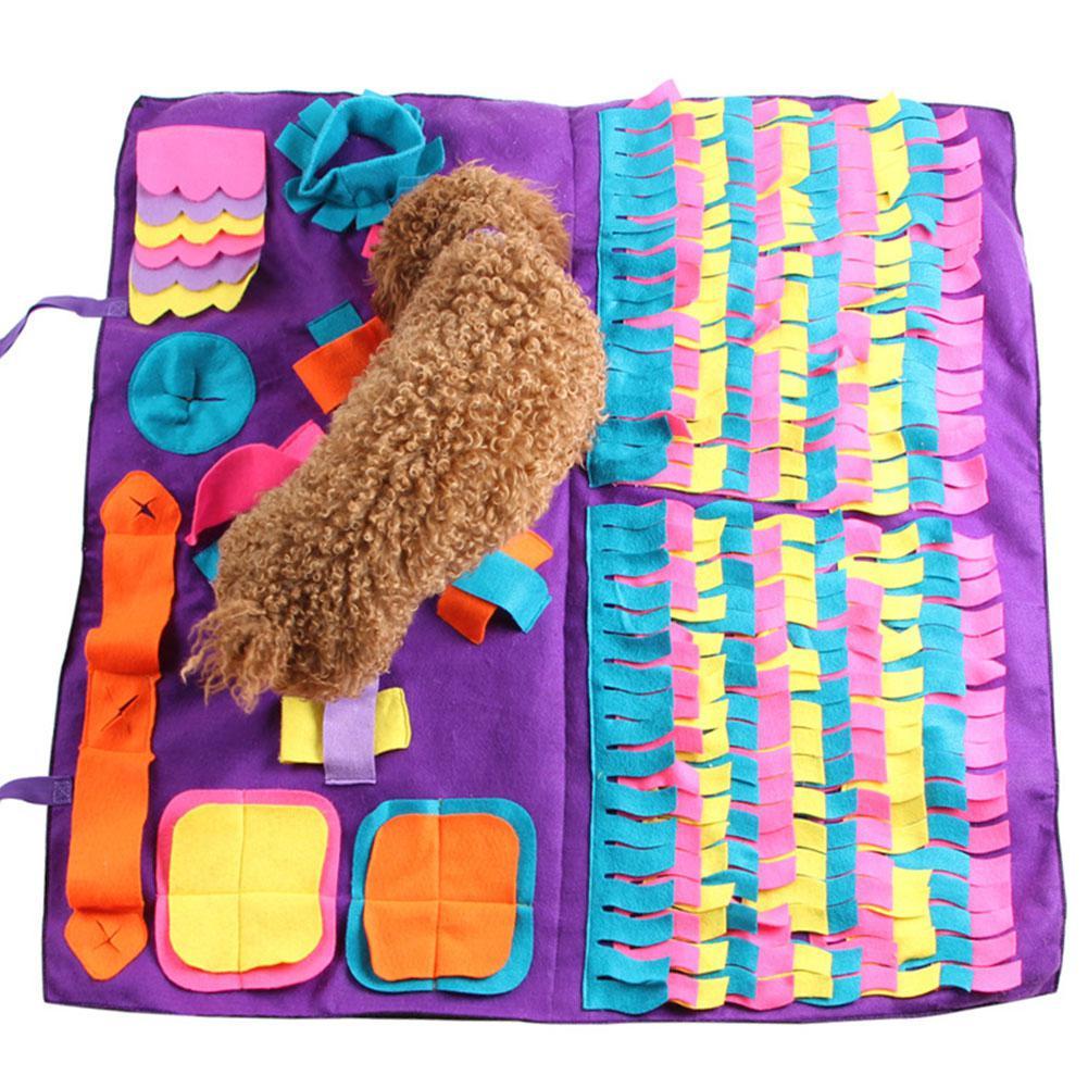 Alfombra de Snuffle para perros, Alfombra de juguete para el patio de la nariz para perros, manta de juguete para mascotas, almohadilla de lana desmontable para entrenamiento, alfombrilla de juego