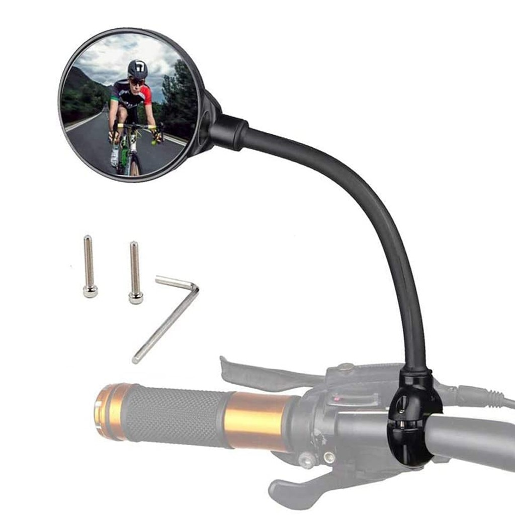 Bike Rearview Mirror Road Mountain Bicycle Handlebar Wide Angle Hose Adjustment Rear View Mirror Mot