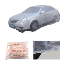 Cubierta Universal desechable para coche M/L/XL, cubierta impermeable de plástico transparente, cubierta a prueba de polvo, cubiertas de lluvia para coche