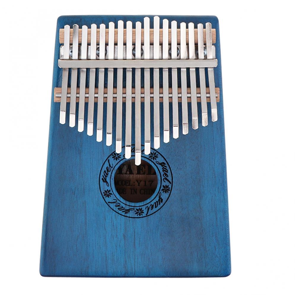 Thumb Piano  17 Key Kalimba Single Board Mahogany Mbira Natural Mini Keyboard Instrument with Accessories enlarge