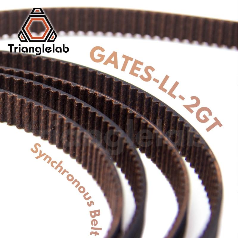 Trianglelab GATES-LL-2GT 2GT синхронный ремень GT2 Ширина ремня ГРМ 6 мм 9 мм износостойкий для Ender3 cr10 Anet 3D принтера