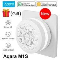 XIaomi     veilleuse Led intelligente M1S Aqara Hub Gateway 3 RGB  fonctionne avec lapplication Apple Homekit Aqara pour Mi Home  Original