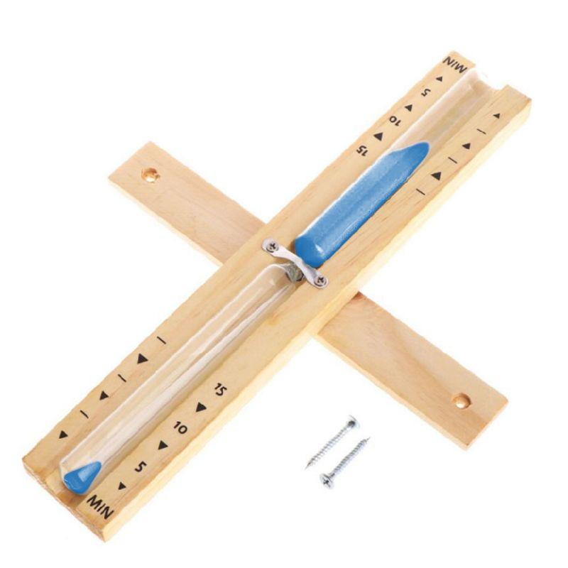 Reloj de arena giratorio de madera para Sauna montado en la pared, reloj de arena de 15 minutos, reloj de arena blanco para uso doméstico