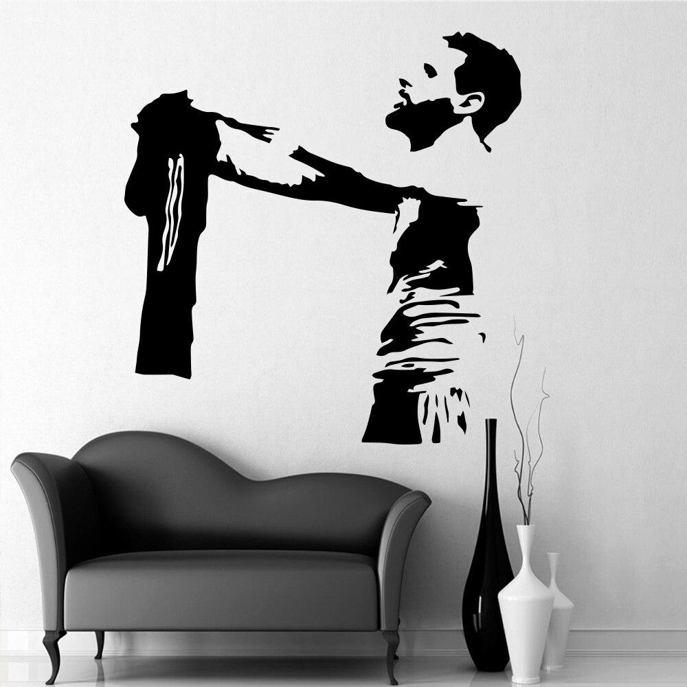 Jugador de fútbol Messi FC pegatinas para pared de fútbol decoración de la habitación del hogar para la decoración del dormitorio de la sala de estar etiqueta de arte de la pared del deporte