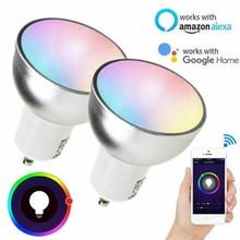 Gu10 LED 5w WiFi Bulb Assistant IFTTT Tuya Smart Life with Alexa &Google Home Remote Control RGB LED Light Dimmer Lamp Spotlight