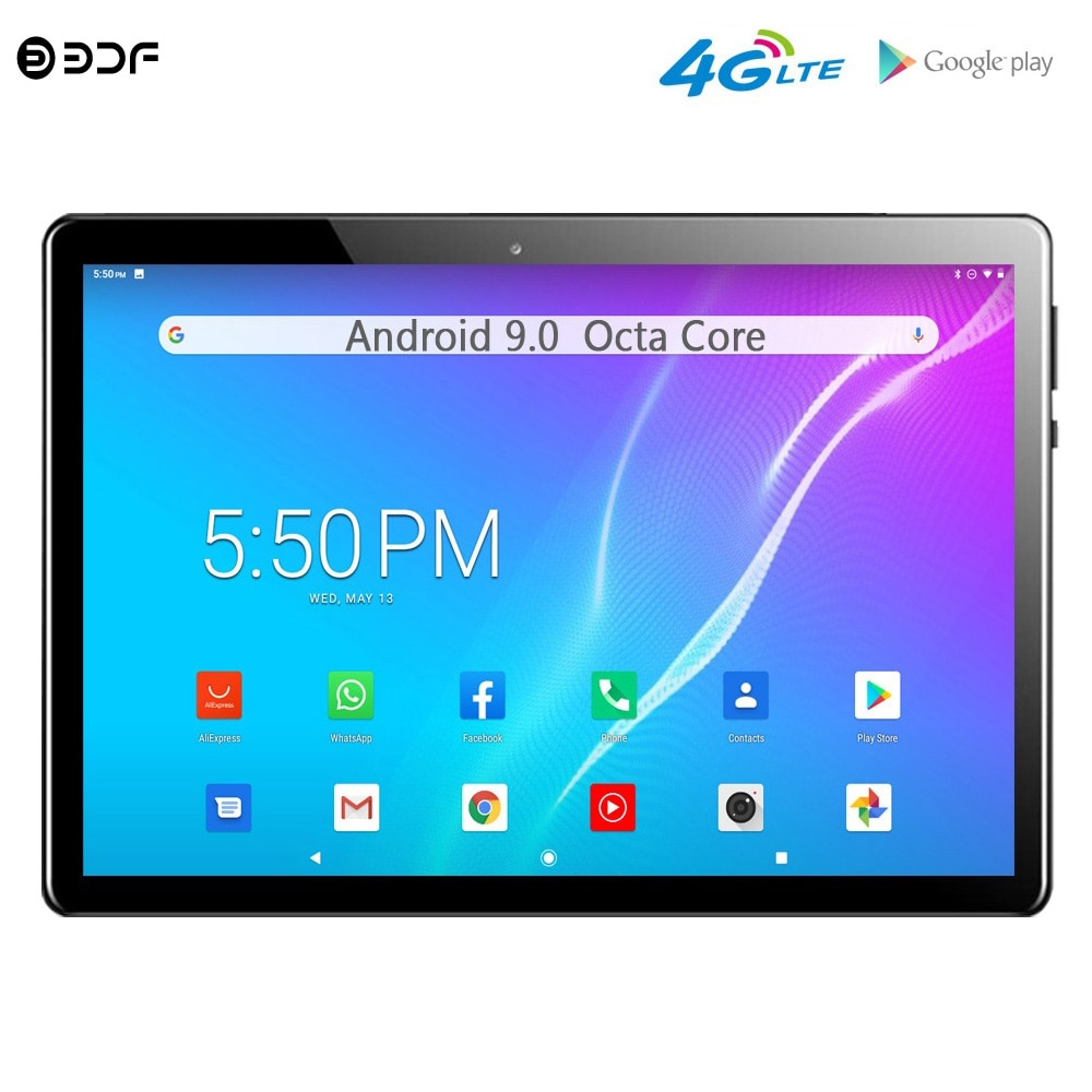 New Arrivals 10.1 Inch Tablet Pc 4G LTE Phone Android 9.0 Octa Core Dual 4G SIM Google Play WiFi Bluetooth GPS 10 inch Tablets 10 1 inch octa core android 9 0 tablets 4g lte phone call tablet pc 2gb ram 32gb rom wifi google play gps dual sim card 1280 800