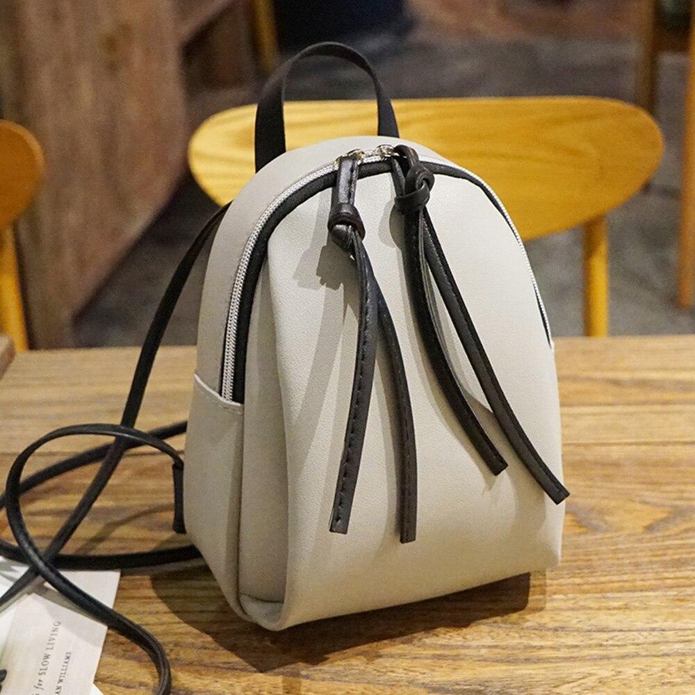 Женский кожаный рюкзак, модный мини-рюкзак, школьные сумки для девочек-подростков, милый маленький женский рюкзак, мини-рюкзак