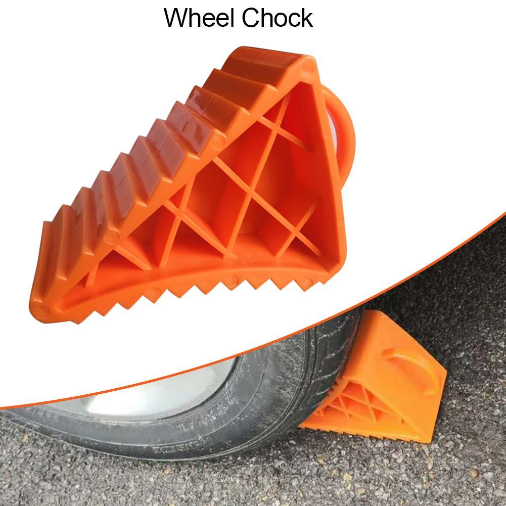 Cuña de rueda portátil, calzo de plástico para rueda de servicio pesado, topes de remolque de llanta para coche, camión, caravana, camión, escúter, bicicleta, motocicleta