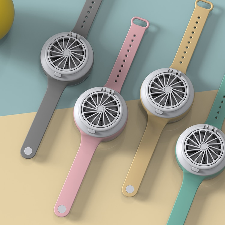 New creative USB charging portable adjustable direction mini watch small fan