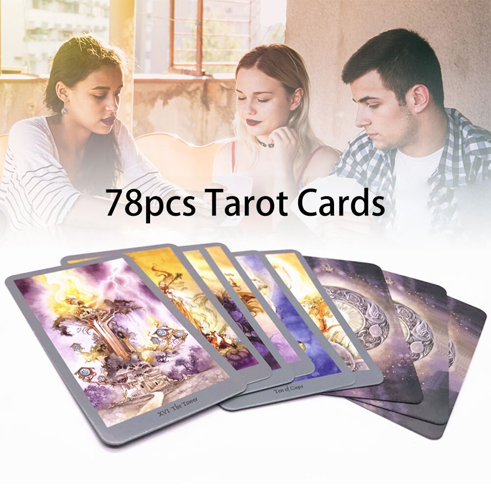 Фото - 78pcs English Version Tarot Cards Funny Family Board Game Playing Cards Game Outdoor Party Guidance Divination Fate Game Board geistesing board game 2 8 players family party best gift for children english instructions cards game reaction blitz game