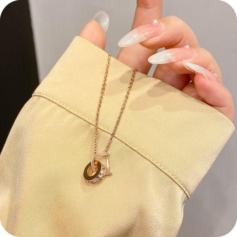 Collar con colgante sencillo y ligero para mujer, cadena con colgante, diseño...