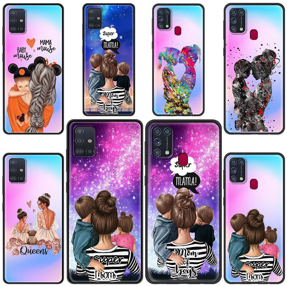 Super Mom Baby Girl Boy Cover For Samsung Galaxy M31s M31 Prime M51 M21 M11 M01 F41 A9 A7 2018 Funda