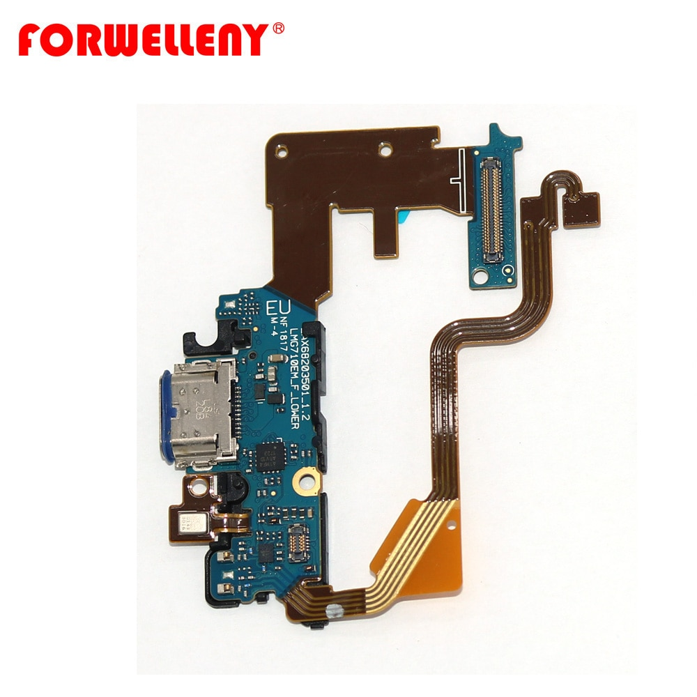 For LG G7 G710 Type C Charging Port Charger Dock With Microphone bottom Board flex cable enlarge